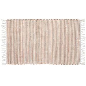 HOME STORY Kelim Teppich   orange   Baumwolle, Synthethische Fasern   60 cm  