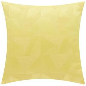 HOME STORY Kissen  Eva - gelb - 100% Polyesterfüllung - 40 cm | Möbel Kraft