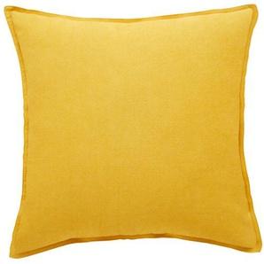 HOME STORY Kissen  Pia - gelb - 100% Polyesterfüllung - 45 cm | Möbel Kraft