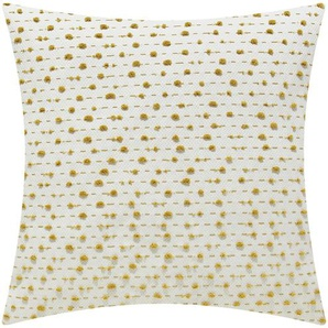 HOME STORY Kissen  Valentina - gelb - 100% Polyesterfüllung - 40 cm | Möbel Kraft
