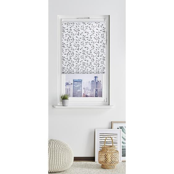 HOME STORY Klemmfix-Plissee  Blume ¦ grau ¦ 100% Polyester ¦ Maße (cm): B: 50