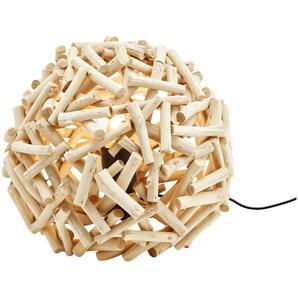 HOME STORY Kugelleuchte aus Treibholz, 1-flammig | braun | 22,5 cm | Möbel Kraft