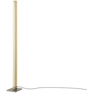 HOME STORY LED-Holz-Stehleuchte, mit Dimmer ¦ braun ¦ Maße (cm): B: 18 H: 154