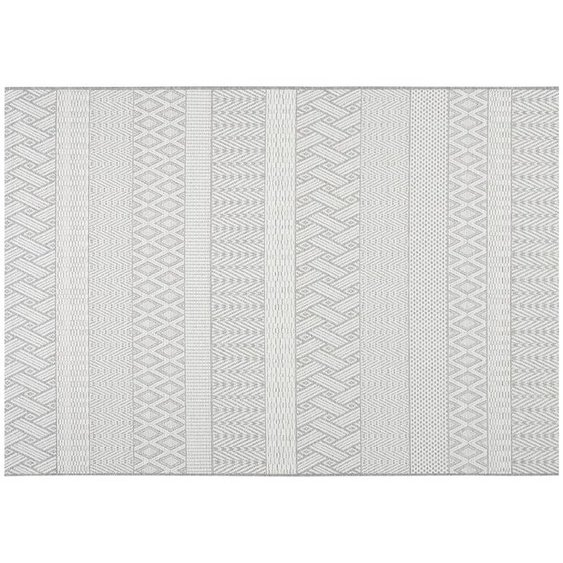 HOME STORY Outdoor Teppich | grau | Synthethische Fasern |