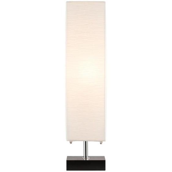 HOME STORY Stehlampe mit weißem Papierschirm u. Holzfuß ¦ weiß