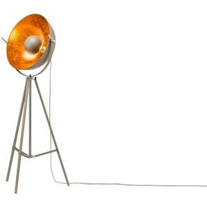 HOME STORY Stehleuchte im Studiolampen-Design, grau ¦ grau ¦ Maße (cm): B: 60 H: 166