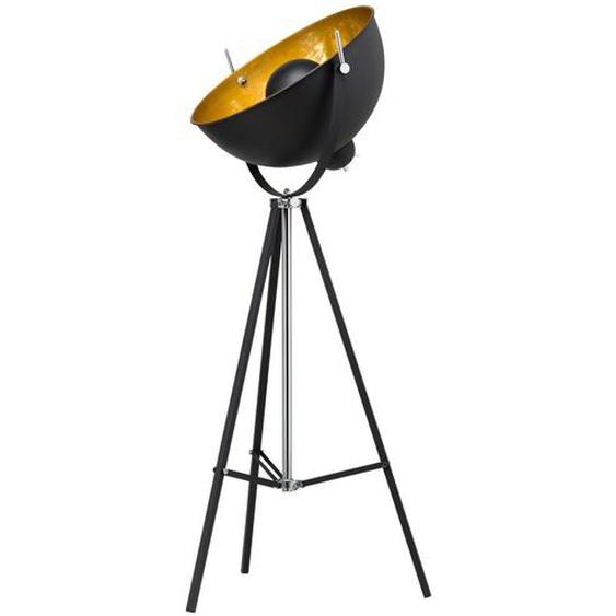 HOME STORY Stehleuchte im Studiolampen-Design, schwarz ¦ schwarzØ: 53