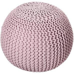 HOME STORY Strickpouf ¦ rosa/pink ¦ Füllung: Thermocol-Bohnen im Baumwollbeutel ¦ Maße (cm): H: 45 Ø: 65