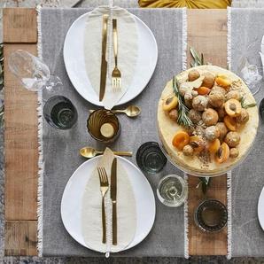 HOME STORY Tischläufer  Fiona ¦ beige ¦ 100% Baumwolle ¦ Maße (cm): B: 40