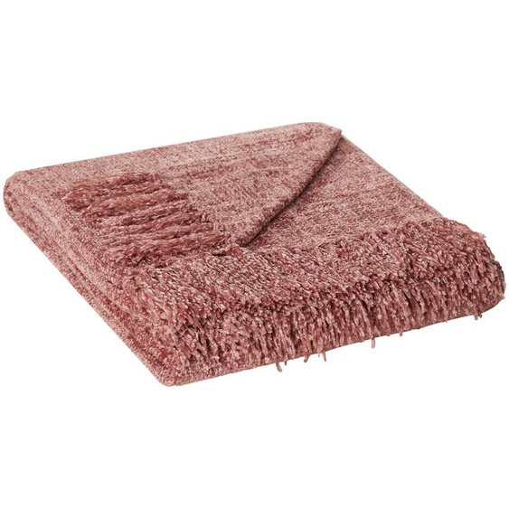 HOME STORY Wohnplaid  Melange ¦ rosa/pink ¦ 100% Polyester , Polyester