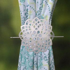 Raffhalter FLOWER, HOME WOHNIDEEN, passend für Gardinen Vorhänge