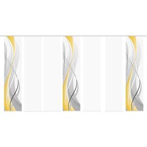 HOME WOHNIDEEN Schiebegardine CARLISLE 7ER SET, HxB: 245x60 245 cm, Paneelwagen, 60 cm gelb Wohnzimmergardinen Gardinen nach Räumen Vorhänge