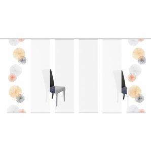 HOME WOHNIDEEN Schiebegardine SCOPPIO, HxB: 245x60, inkl. Befestigungszubehör 245 cm, Klettband, 60 cm orange Wohnzimmergardinen Gardinen nach Räumen Vorhänge