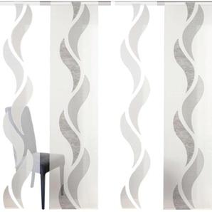 HOME WOHNIDEEN Schiebegardine WELLE, HxB: 245x60, inkl. Befestigungszubehör 245 cm, Klettband, 60 cm braun Wohnzimmergardinen Gardinen nach Räumen Vorhänge