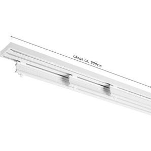 Homeware Flächenvorhangschiene 260 cm , Weiß , Metall , 260 cm