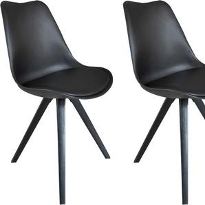Homexperts Esszimmerstuhl »Kaja 02« (Set, 2 Stück), Sitzschale mit Sitzkissen in Kunstleder