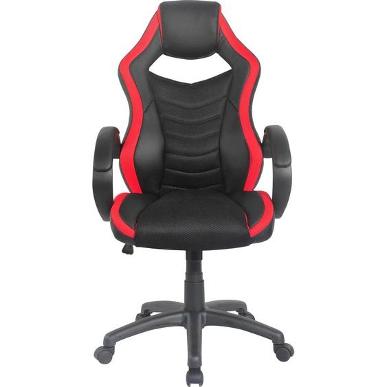 Homexperts Chefsessel Einheitsgröße schwarz Gamingstühle Bürostühle Stühle Sitzbänke