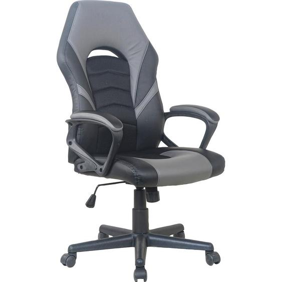 Homexperts Chefsessel Friends, Moderne Optik Kunstleder schwarz Gamingstühle Bürostühle Stühle Sitzbänke