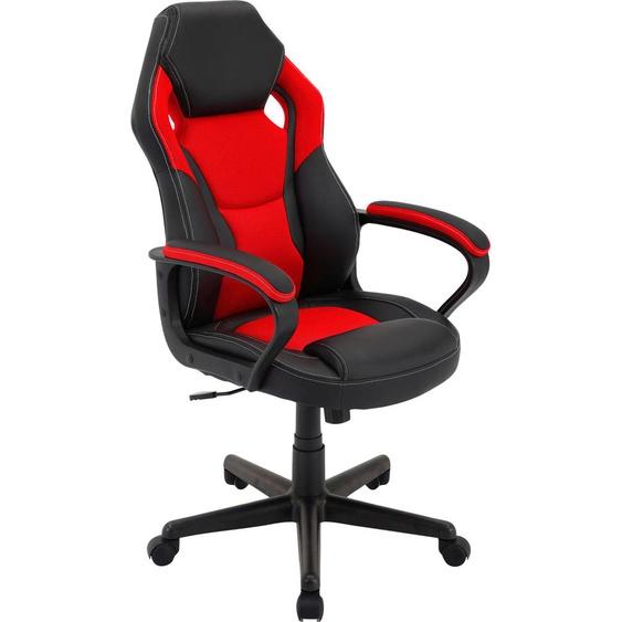 Homexperts Chefsessel Manta B/H/T: 60 cm x 103 65 cm, Kunstleder-Netzstoff schwarz Gamingstühle Bürostühle Stühle Sitzbänke