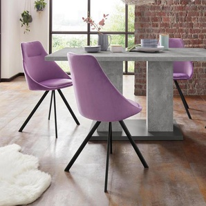 Homexperts Essgruppe »Nela-Tavia«, (Set, 5-tlg), Tisch - Breite 140 cm + 4 Stühle