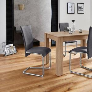 Homexperts Essgruppe »Nick2-Mulan«, (Set, 5-tlg), mit 4 Stühlen, Tisch in eichefarben sägerau, Breite 120 cm