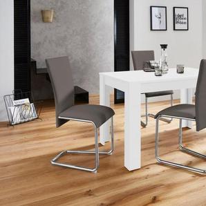 Homexperts Essgruppe »Nick2-Mulan«, (Set, 5-tlg), mit 4 Stühlen, Tisch in weiß, Breite 120 cm