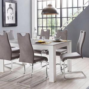 Homexperts »Zabona« Essgruppe (1 Tisch + 4 Stühle)