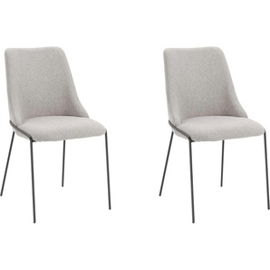 Homexperts Esszimmerstuhl »Carina« (Set, 2 Stück), Bezug aus Webstoff