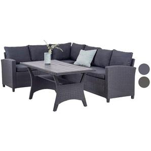 Homexperts Lounge Set Heathrow grau/schwarz