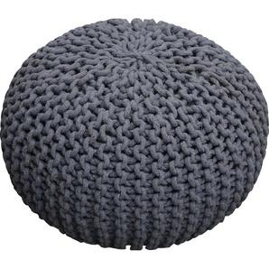 Homexperts Pouf Cozy (1 Stück) 0, Baumwolle, B/T/H: 45x45x30 cm grau Poufs Hocker