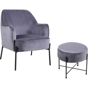 Homexperts Sessel »Tiffy« (1-tlg), Sessel wahlweise mit Hocker