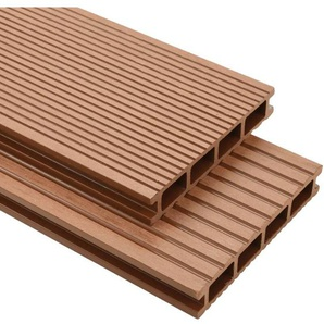 Hommoo WPC Terrassendielen mit Zubehör 30 m2 4 m Braun VD17787