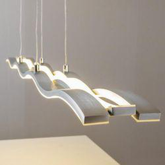 Hopedale Pendelleuchte LED Nickel-Matt, Chrom, 1-flammig - Modern - Innenbereich - versandfertig innerhalb von 2-3 Wochen