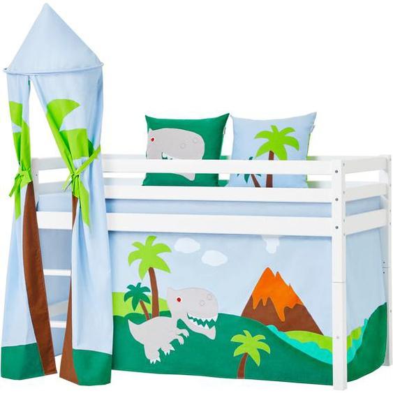 Hoppekids Bettturm Dinosaurier ø 45 cm / 115 bunt Kinder Kinderzimmerdekoration Kindermöbel Spieltunnel