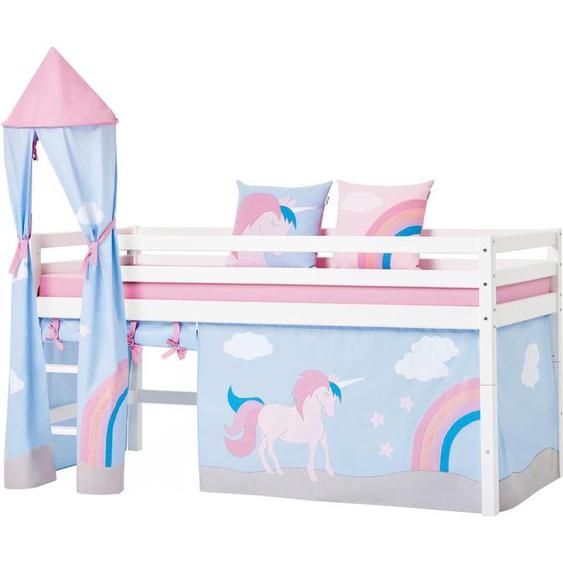 Hoppekids Bettturm Einhorn / 115 cm blau Kinder Kinderzimmerdekoration Kindermöbel Spieltunnel