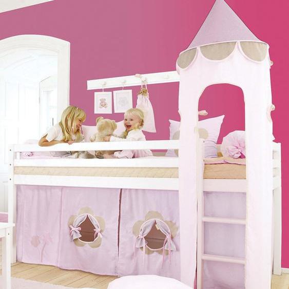 Hoppekids Bettturm Fairytale Flower / 115 cm rosa Kinder Kinderzimmerdekoration Kindermöbel Spieltunnel