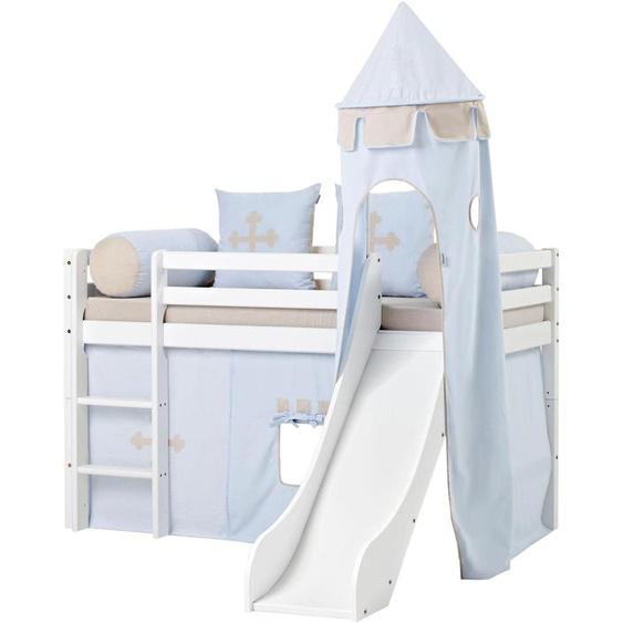 Hoppekids Bettturm Fairytale Knight / 115 cm blau Kinder Kinderzimmerdekoration Kindermöbel Spieltunnel