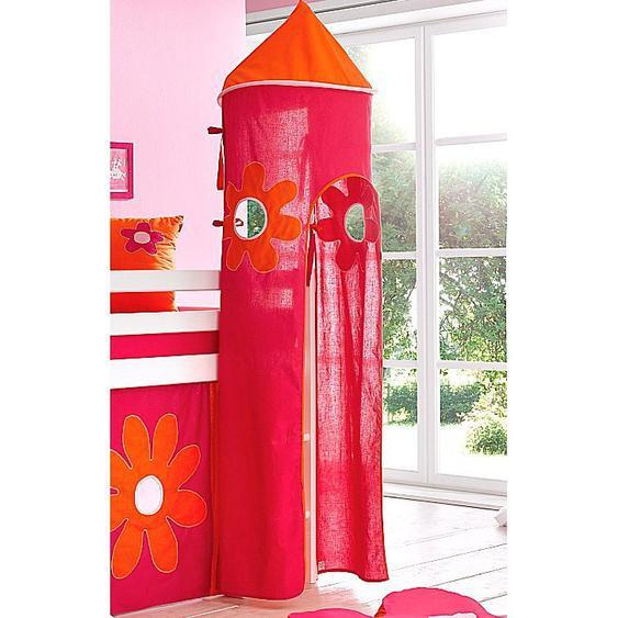 Hoppekids Bettturm Flowerpower / 115 cm bunt Kinder Kinderzimmerdekoration Kindermöbel Spieltunnel