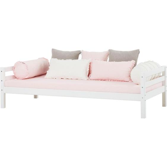 Hoppekids Einzelbett BASIC 90x200 cm Höhe Bettseite: 56 cm, Schaumstoffmatratze, H3 weiß Kinder Kinderbetten Kindermöbel Betten
