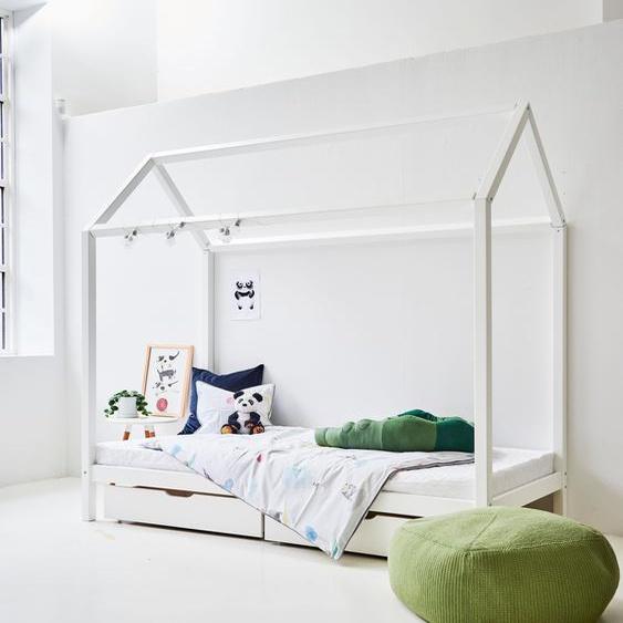 Hoppekids Hausbett Liegefläche B/L: 90 cm x 200 cm, Gewicht weiß Kinder Kinderbetten Kindermöbel
