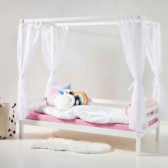 Hoppekids Himmelbett »BASIC« (3-St., Bett, Himmeltextil und Wimpelkette)