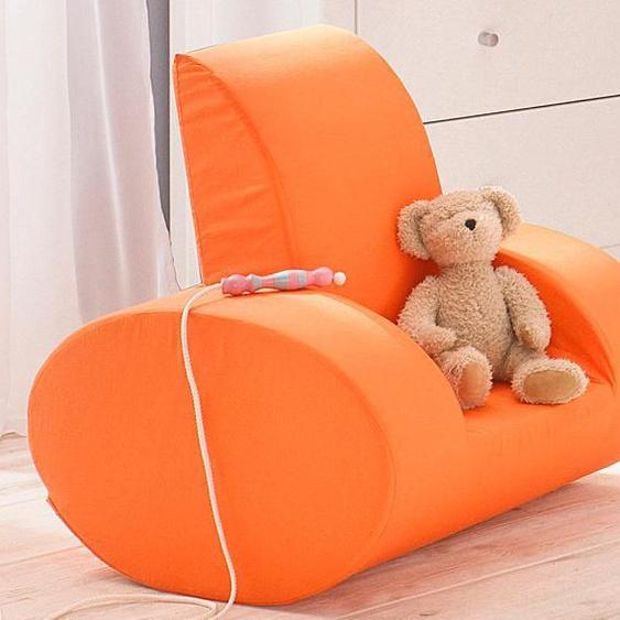 Hoppekids Sessel Baumwolle orange Kinder Kinderzimmerdekoration Kindermöbel