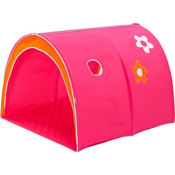 Hoppekids Spieltunnel Flowerpower B/L: 90 cm x 200 pink Kinder Kinderzimmerdekoration Kindermöbel