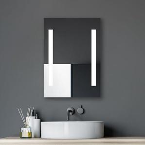 Horizon 50 x 70 cm mit LED Beleuchtung in neutralweiß - Seitenprofile aus Aluminium - An-Aus Taster am Rahmen - Talos