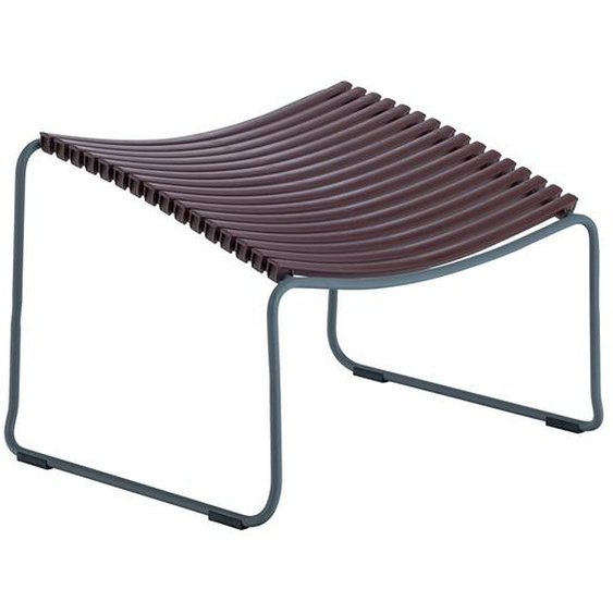 Houe - Click Footrest Hocker schräg - Pflaume - outdoor