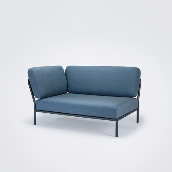 Houe - Level Lounge Sofa - Dusty Blue - Armlehne links - Dusty blue - outdoor