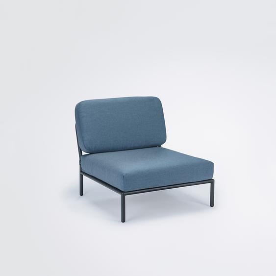 Houe - Level Lounge Stuhl - Dusty blue - outdoor