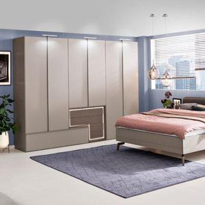 hülsta Schlafzimmer-Set, Grau, Lack
