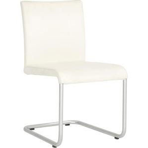 Hülsta: Stuhl, Weiß, Chrom, B/H/T 49 85 60