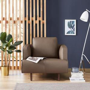 hülsta sofa Sessel »hs.440«, wahlweise in Stoff oder Leder, Fuß Nussbaum